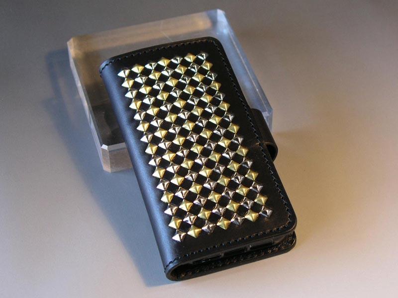 079dfe1fff サドルレザー iPhone5 / 5Sケース+ナスカン(横開け)iPhone5C対応/GREEN HORN グリーンホーン レザークラフト&スタッズ アート