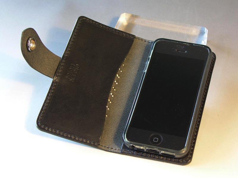 b34541b204 サドルレザー iPhone5 / 5Sケース+ナスカン(横開け)iPhone5C対応 ...